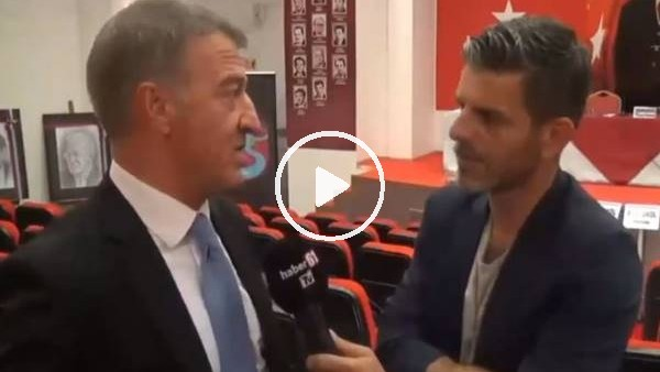 """'Ahmet Ağaoğlu: """"Trabzonspor masadan kalkmaz, masadan kaldırır"""""""