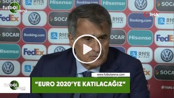 """Şenol Güneş: """"EURO 2020'ye katılacağız"""""""