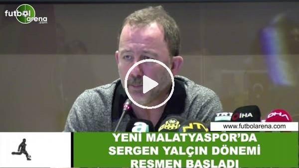 """'Sergen Yalçın: """"Hedefimiz UEFA şampiyonluğu değil ama bir yerlere gelmek istiyoruz"""""""