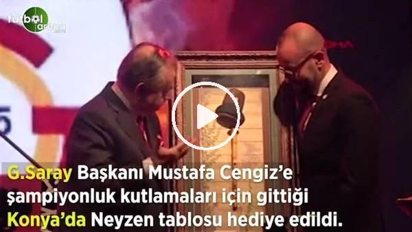 'Mustafa Cengiz'e Konya'da Neyzen tablosu hediye edildi
