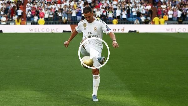 'Eden Hazard, Real Madrid formasıyla tribünleri coşturdu
