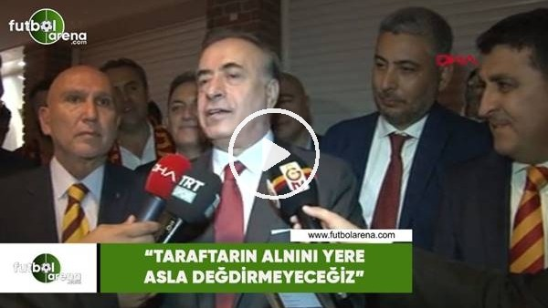 """'Mustafa Cengiz: """"Taraftarın alnını asla yere değdirmeyeceğiz"""""""