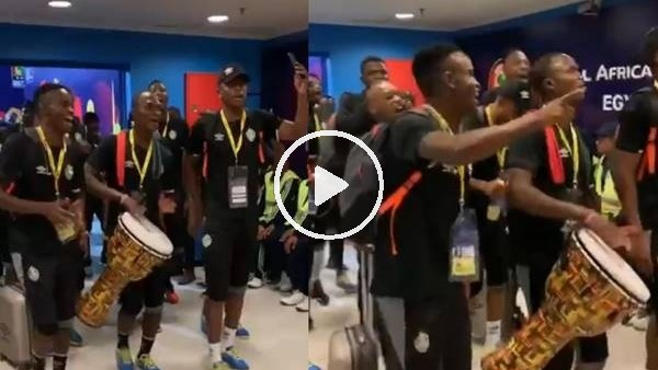 Afrika Kupası'nda Zimbabwe stada böyle geldi