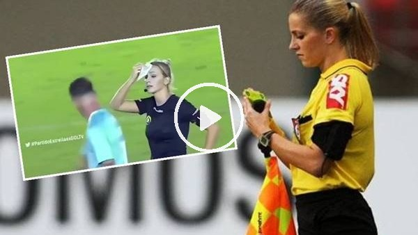 Kadın hakem futbolcuyu trolledi
