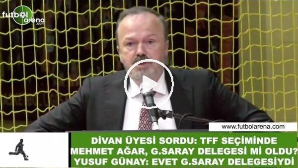 """Yusuf Günay: """"TFF Seçiminde Mehmet Ağar, Galatasaray delegesiydi"""""""