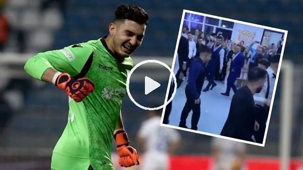 'Trabzonsporlu futbolcular Uğurcan Çakır'ın düğününde böyle eğlendi
