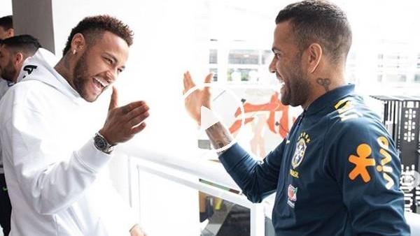 Neymar'dan Milli Takım'a ziyaret