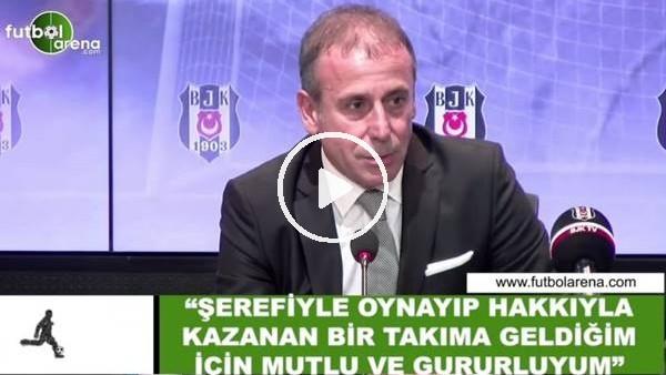 """Abdullah Avcı: """"Şerefiyle oynayıp hakkıyla kazanan bir takıma geldiğim için mutlu ve gururluyum"""""""