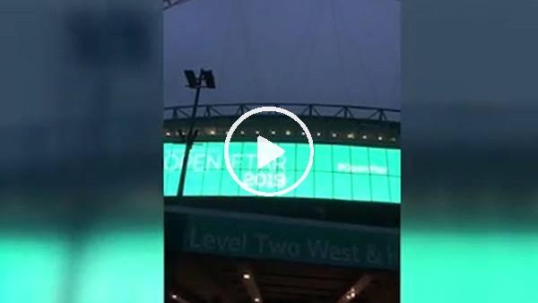 'Wembley Stadı'nda ezan sesiyle iftar vakti hatırlatıldı