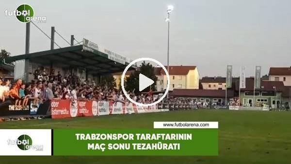Trabzonspor taraftarının maç sonu tezahüratı