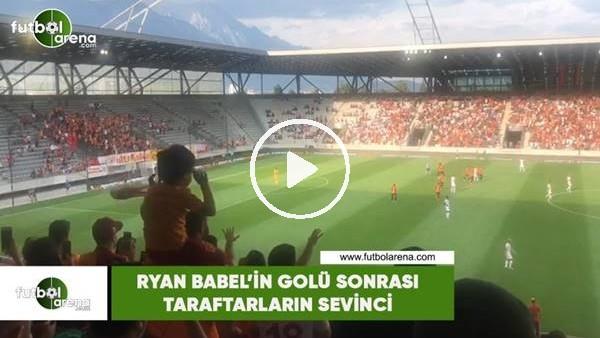 'Ryan Babel'in golü sonrası taraftarların sevinci