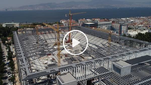 'Göztepe'nin yeni stadı yükseliyor
