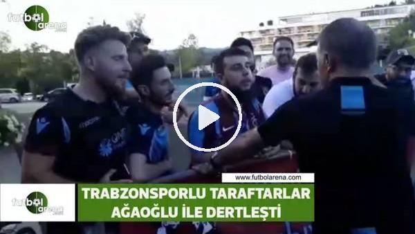 'Trabzonsporlu taraftarlar, Ahmet Ağaoğlu ile dertleşti