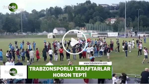 Trabzonsporlu taraftarlar horon tepti