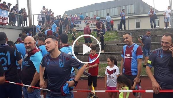 Trabzonspor taraftarı Parma maçında takımlarını yalnız bırakmadı