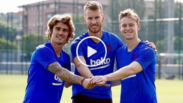 Barcelona'nın yeni transferleri poz verdi