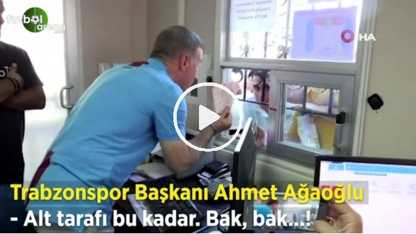 'Ahmet Ağaoğlu forma satışı yaptı