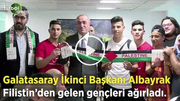 Abdurrahim Alayrak, Filistin'den gelen gençleri ağırladı