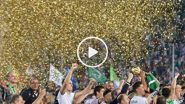 'Feghouli ve arkadaşları şampiyonluğu kutluyor