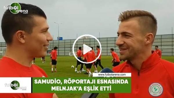 'Samudio, röportajı esnasında Melnjak'a eşlik etti