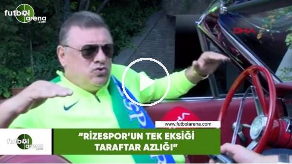 """'Hasan Kartal: """"Rizespor'un tek eksikliği taraftar azlığı"""""""