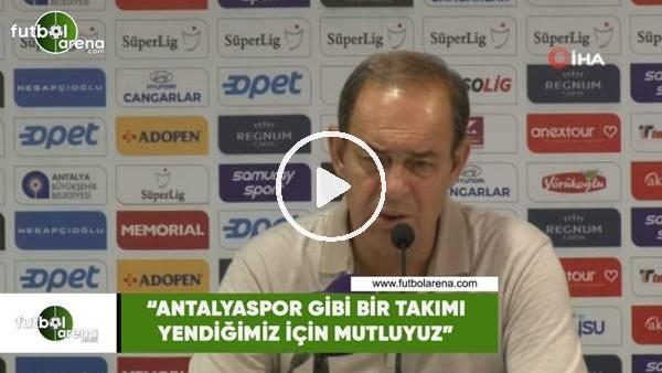 """'Yücel İldiz: """"Antalyaspor gibi zor bir takımı yendiğimiz için mutluyuz"""""""