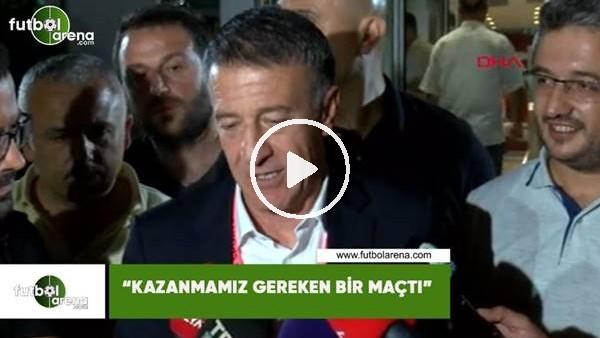 """'Ahmet Ağaoğlu: """"Kazanmamız gereken bir maçtı"""""""