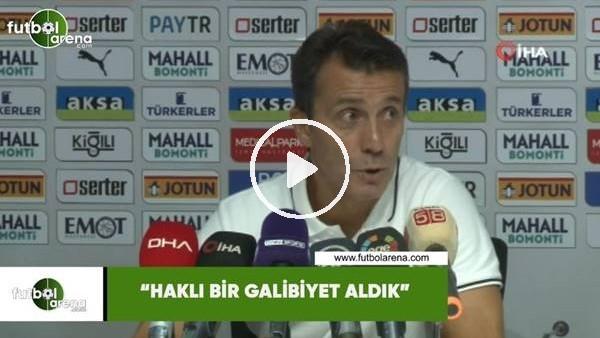 """'Bülent Korkmaz: """"Haklı bir galibiyet aldık"""""""