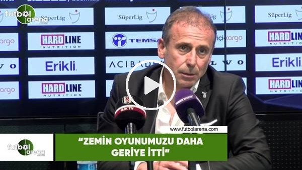 """Abdullah Avcı: """"Zemin oyunumuzu daha geriye itti"""""""