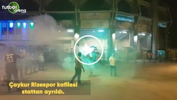 'Çaykur Rizespor kafilesi stattan ayrıldı