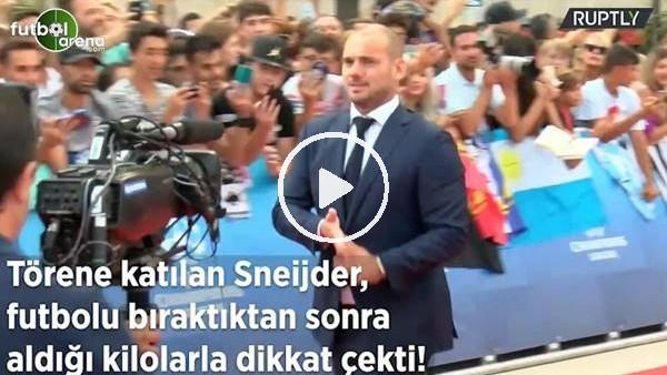 Sneijder, aldığı kilolarla dikkat çekti!