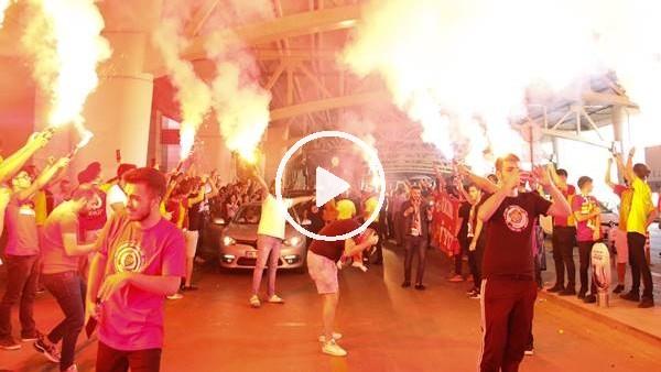 'Galatasaray'a Ankara'da coşkulu karşılama