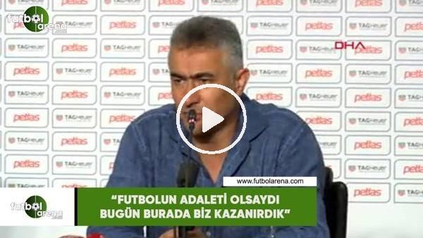 """'Mehmet Altıparmak: """"Futbolun adaleti olsaydı bugün biz kazanırdık"""""""