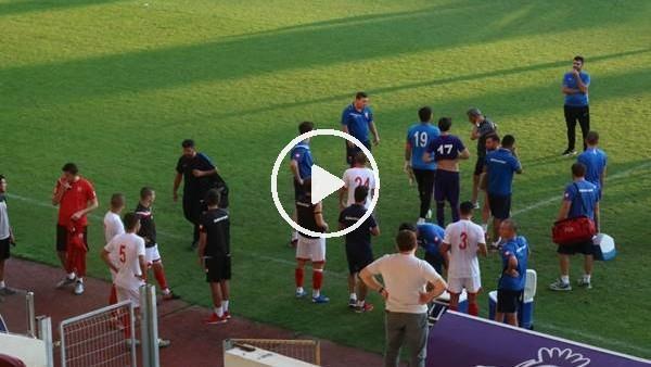 ' Balıkesirspor-Afyonspor maçında gerginlik çıktı