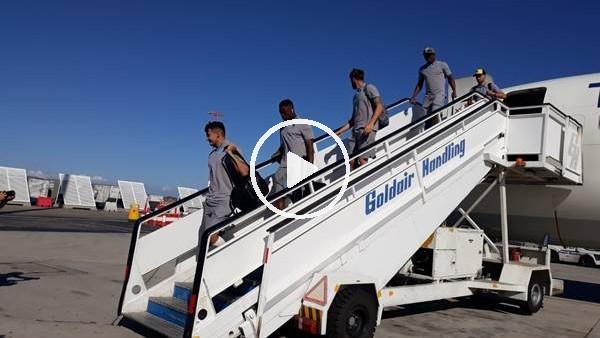 'Trabzonspor, AEK maçı için Yunanistan'a geldi
