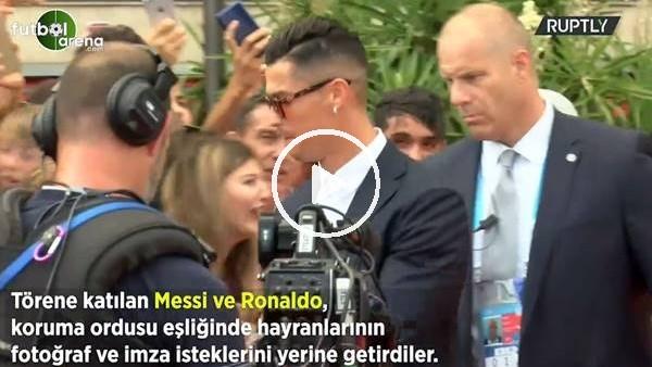 Messi ve Ronaldo'ya koruma ordusu eşlik etti