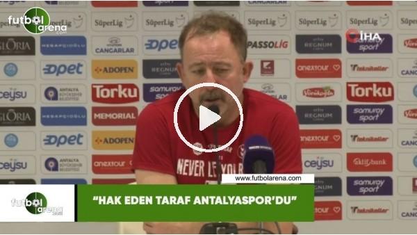 """'Sergen Yalçın: """"Hak eden taraf Antalyaspor'du"""""""