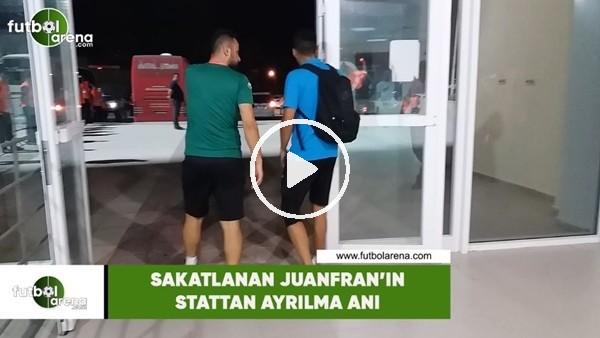 'Sakatlanan Juanfran'ın sakattan ayrılma anı