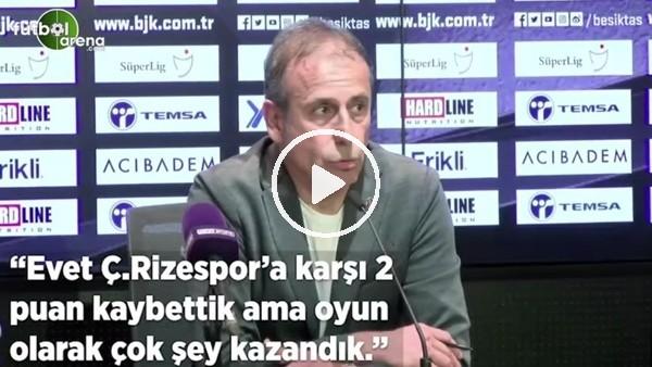 """'Abdullah Avcı: """"Çaykur Rizespor'a karşı 2 puan kaybettik ama oyun olarak çok şey kazandık"""""""