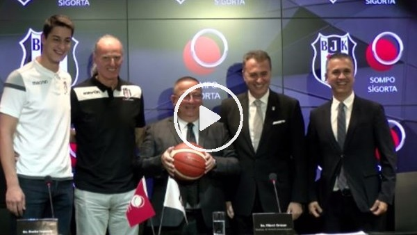 'Beşiktaş - Sompo Japon sponsorluk imza töreni