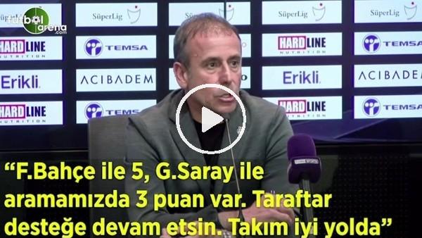 """'Abdullah Avcı: """"Fenerbahçe ile 5, Galatasaray ile aramızda 3 puan var. Taraftar desteğe devam etsin"""""""