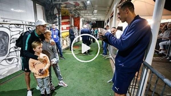 Matic çocuklarının Ronaldo ile fotoğrafını çekti
