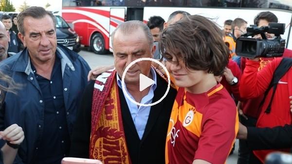 'Galatasaray kafilesine Malatya'da coşkulu karşılama