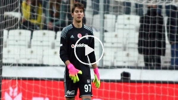 Beşiktaş'ın genç kalecisi Utku'nun kurtardığı penaltı