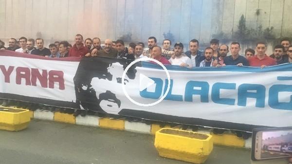 'Trabzonspor taraftarından Ünal Karaman'a destek