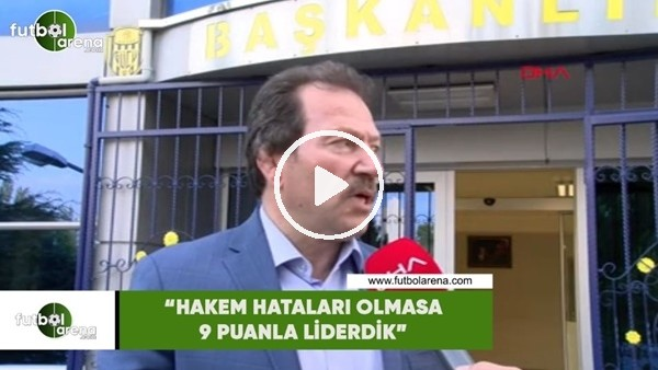 """'Mehmet Yiğiner: """"Hakem hataları olmasa liderdik"""""""