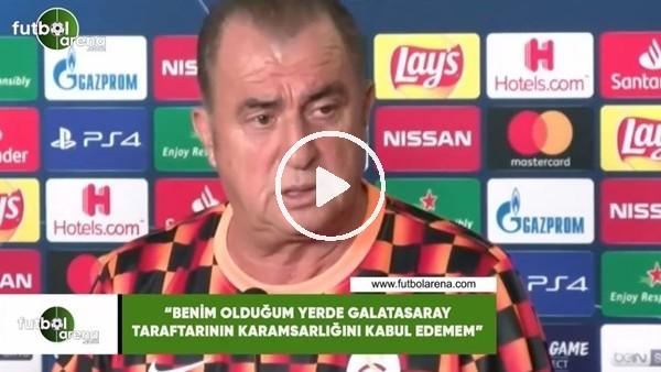"""Fatih Terim: """"Benim olduğum yerde Galatasaray taraftarının karamsarlığını kabul edemem"""""""