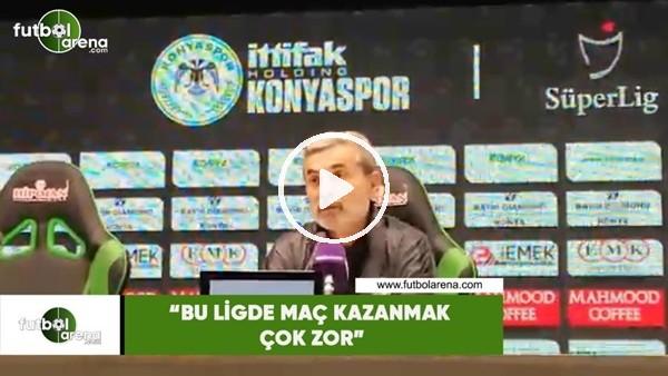 """'Aykut Kocaman: """"Bu ligde maç kazanmak çok zor"""""""