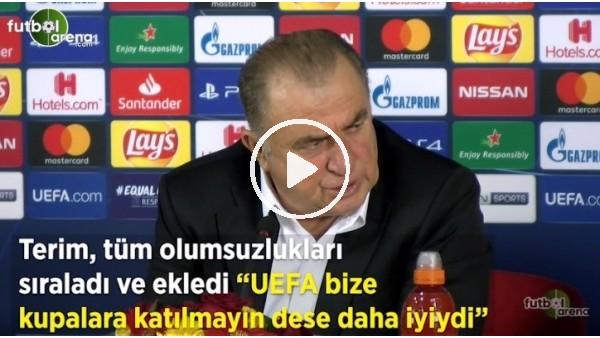 "'Fatih Terim: ""UEFA bize ceza verse daha iyiydi"""