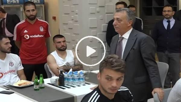 'Ahmet Nur Çebi, futbolcularla bir araya geldi